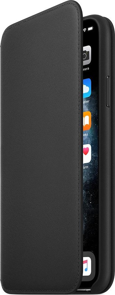 Official Apple Leather Case - Δερμάτινη Θήκη Folio iPhone 11 Pro Max - Black (MX082ZMA)