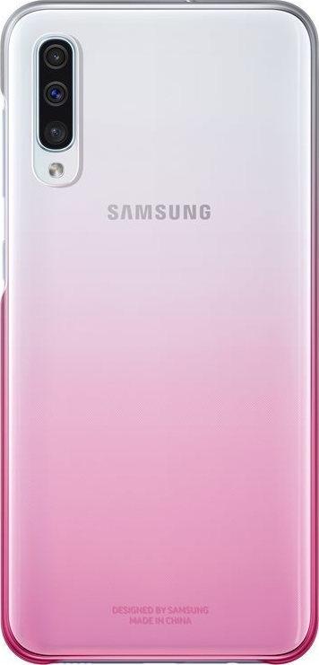 Official Samsung Gradation Cover - Σκληρή Θήκη Samsung Galaxy A50 - Pink (EF-AA505CPEGWW)