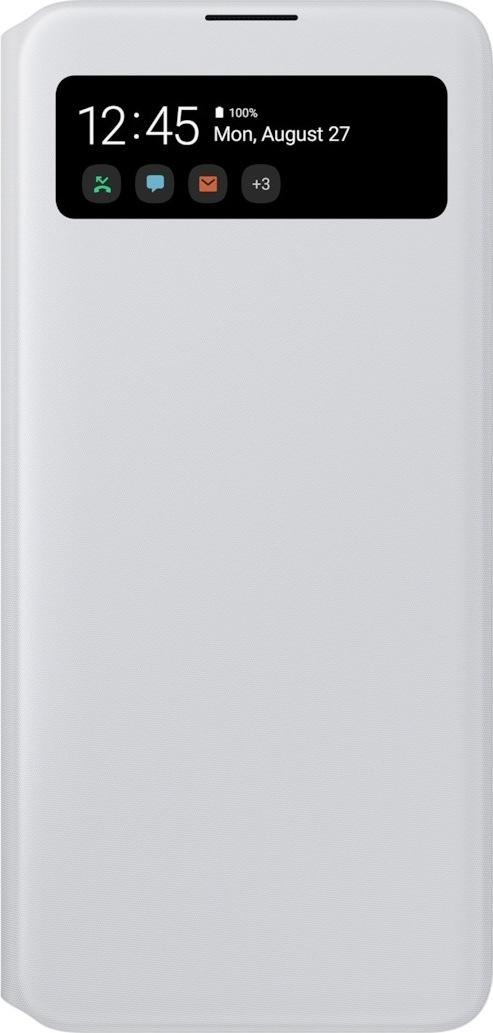 Official Samsung S-View Wallet Θήκη Samsung Galaxy A71 - White (EF-EA715PWEGEU)