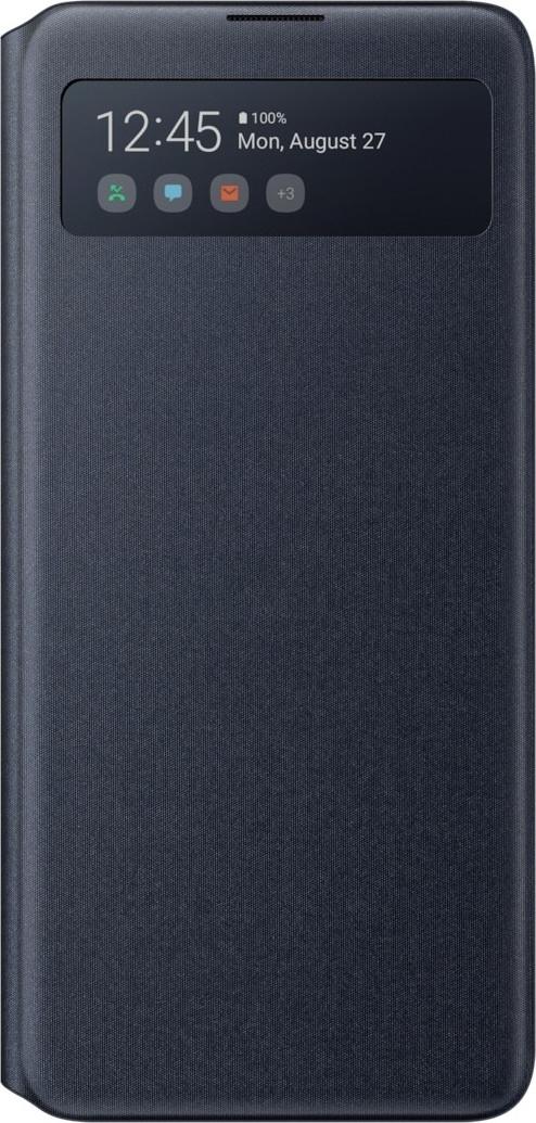 Official Samsung S-View Wallet Θήκη Samsung Galaxy Note 10 Lite - Black (EF-EN770PBEGEU)