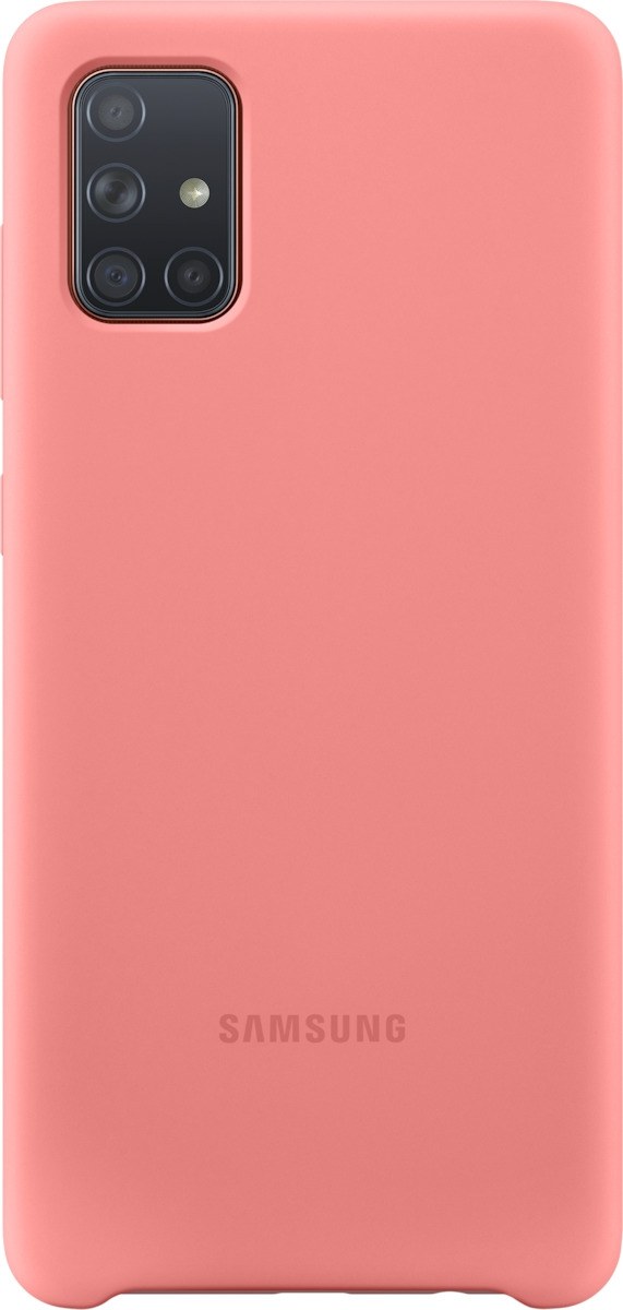 Official Samsung Θήκη Σιλικόνης Samsung Galaxy A71 - Pink (EF-PA715TPEGEU)