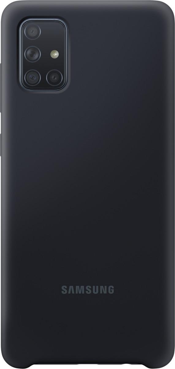 Official Samsung Θήκη Σιλικόνης Samsung Galaxy A71 - Black (EF-PA715TBEGEU)