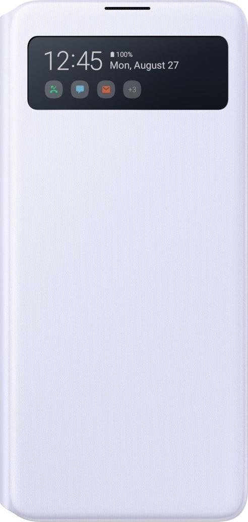 Official Samsung S-View Wallet Θήκη Samsung Galaxy Note 10 Lite - White (EF-EN770PWEGEU)