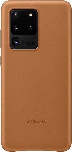 Official Samsung Δερμάτινη Θήκη Samsung Galaxy S20 Ultra - Brown (EF-VG988LAEGEU)