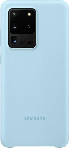Official Samsung Θήκη Σιλικόνης Samsung Galaxy S20 Ultra - Sky Blue (EF-PG988TLEGEU)
