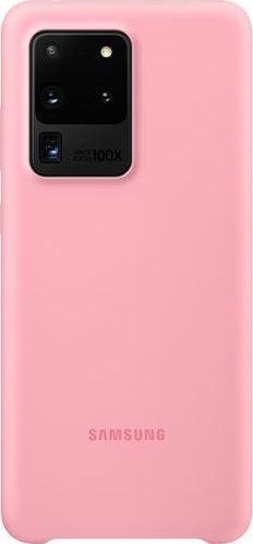 Official Samsung Θήκη Σιλικόνης Samsung Galaxy S20 Ultra - Pink (EF-PG988TPEGEU)