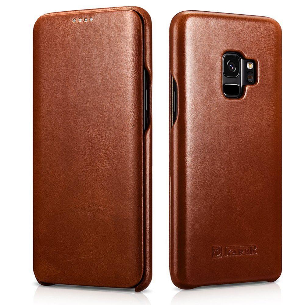 iCarer Vintage Series Side-Open Δερμάτινη Θήκη Samsung Galaxy S9 - Brown (12847)