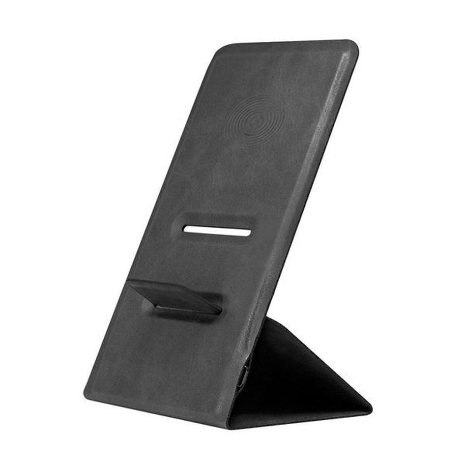 Celly Wireless Charger Stand Slim - Ασύρματος Φορτιστής Fast Charge 10W - Black (WLFASTSLIMBK)