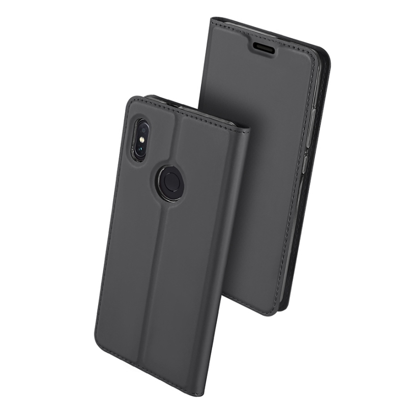 Duxducis SkinPro Flip Θήκη Xiaomi Redmi Note 5 / Redmi Note 5 Pro - Gray (13534)