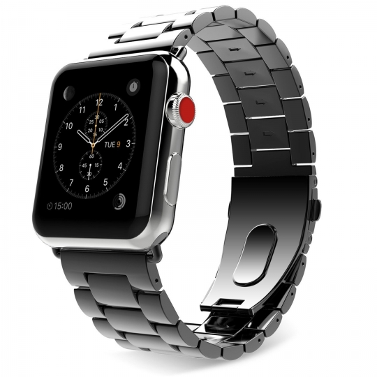 Slimlink Μεταλλικό Λουράκι για Apple Watch 5/4/3/2/1 - 44/42mm - Black (12706) - OEM