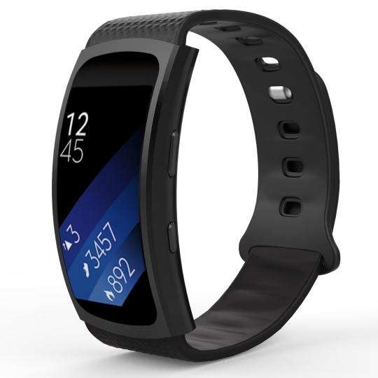 Ανταλλακτικό Λουράκι Σιλικόνης Samsung Gear Fit/Fit 2 - Black - OEM (12838)