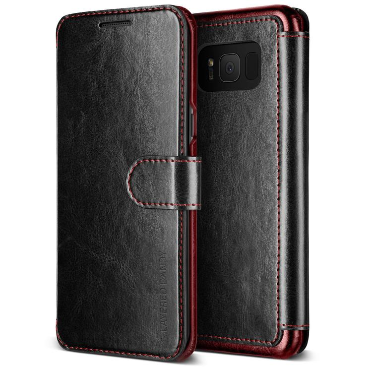 VRS Design Dandy Layered Θήκη - Πορτοφόλι Samsung Galaxy S8 - Black (VRSGS8-LDDBK)