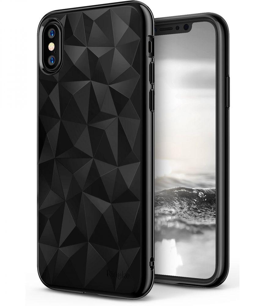 Ringke Air Prism Θήκη Σιλικόνης iPhone X / XS με Ανάγλυφο Σχέδιο - Ink Black (11737)