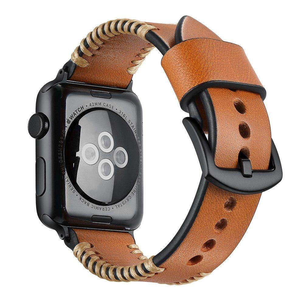 Ανταλλακτικό Λουράκι Stroband Apple Watch 5/4/3/2/1 (44/42mm) - Brown (13625) - OEM