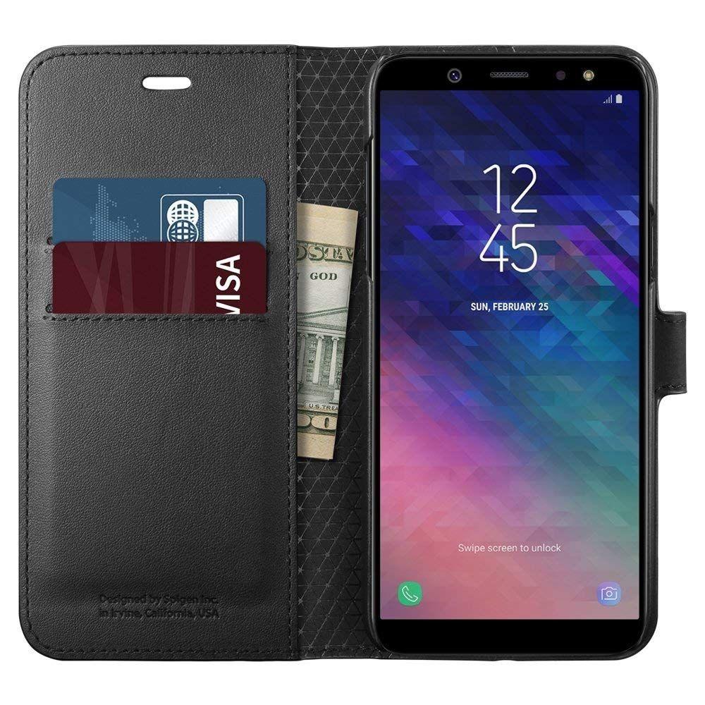 Spigen Wallet S. Θήκη - Πορτοφόλι Samsung Galaxy A6 (2018) - Black (596CS24092)