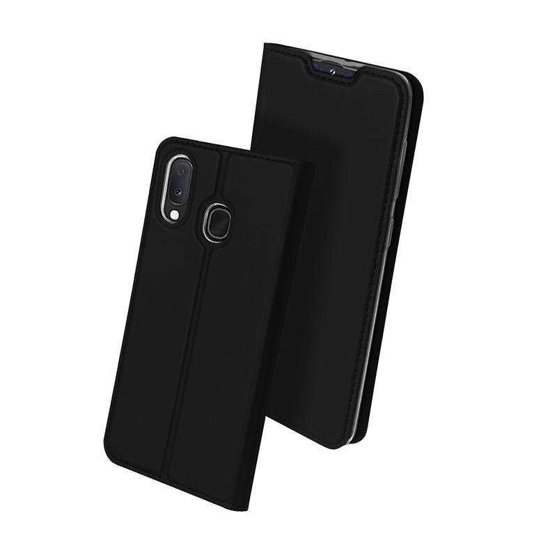 Duxducis SkinPro Θήκη Πορτοφόλι Samsung Galaxy A20e - Black (59496)