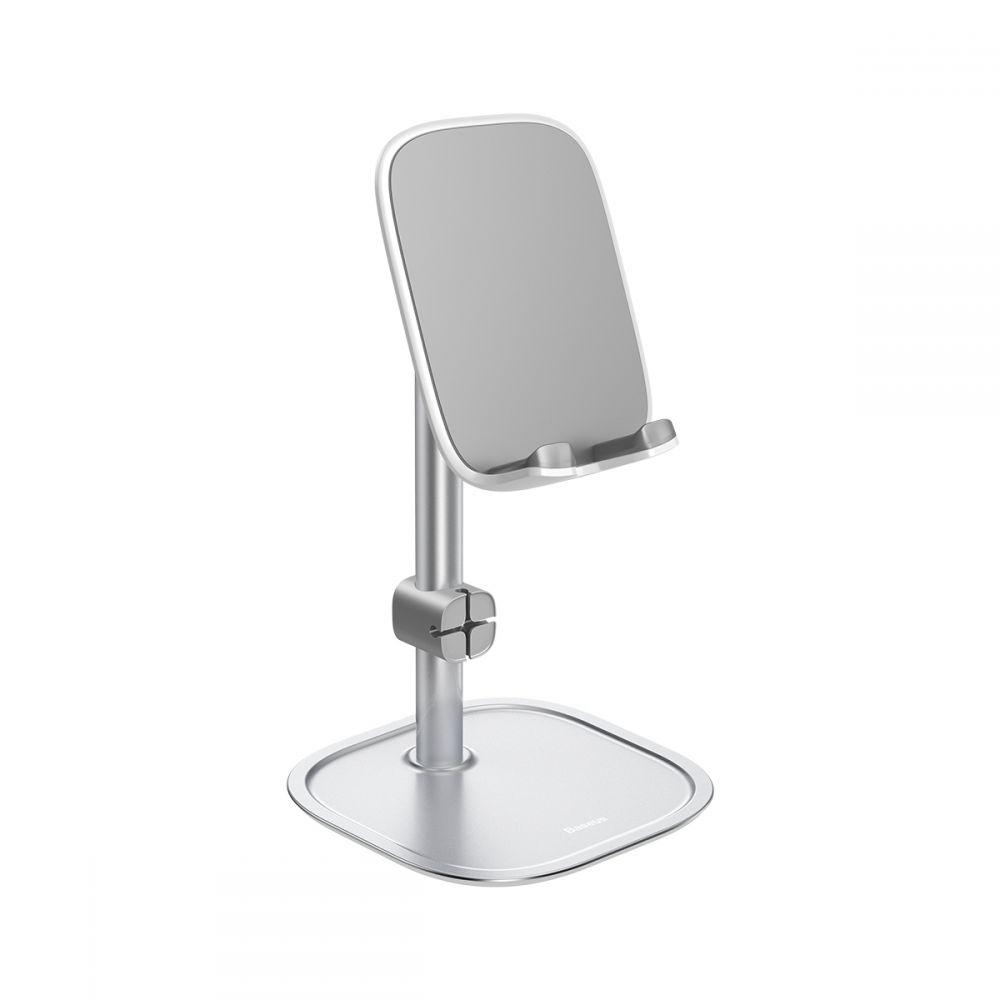 Baseus Universal Ρυθμιζόμενη Bάση για Smartphone / Tablet - Silver (SUWY-0S)