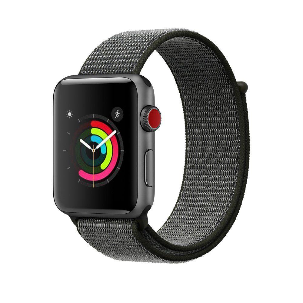 Ανταλλακτικό Νάυλον Λουράκι Apple Watch 5/4/3/2/1 - 44/42mm -  Dark Olive (12707) - OEM