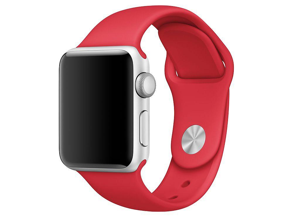 Ανταλλακτικό Λουράκι Σιλικόνης Apple Watch 5/4/3/2/1 (38mm) - Red - OEM (13084)