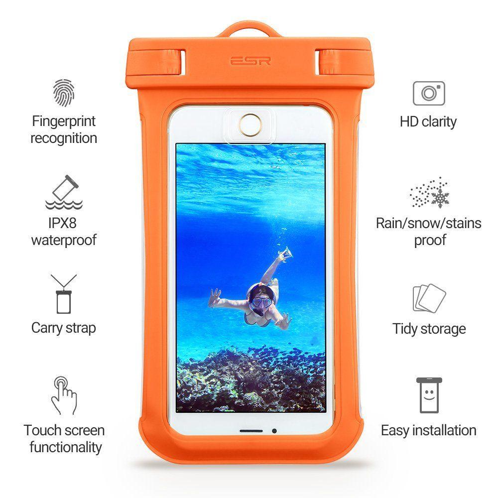 ESR Universal Αδιάβροχη Θήκη Πουγκί για Smartphones έως 5.5'' - Orange (13154)