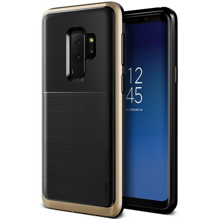 VRS Design Θήκη High Pro Shield Series Samsung Galaxy S9 Plus  - Shine Gold (VRSGS9P-HPSGL)