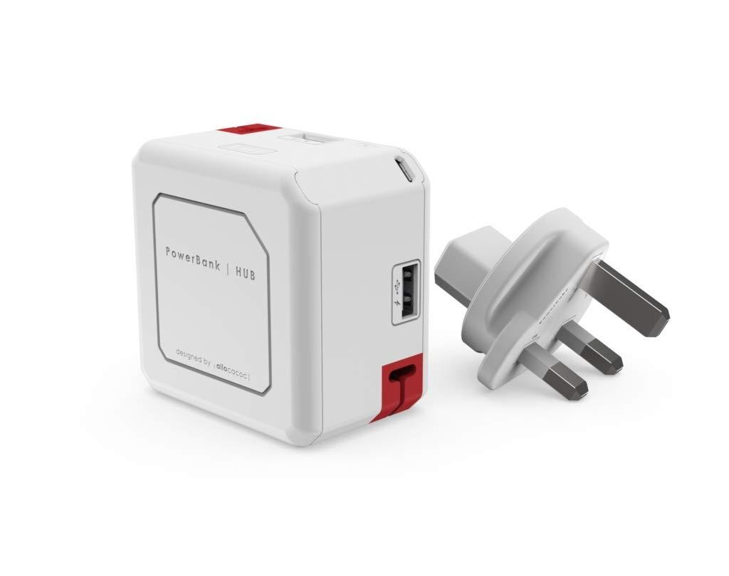 Allocacoc PowerUSB Portable & Φορητή Μπαταρία Φόρτισης - 5.000mAh - White (SCP1610)