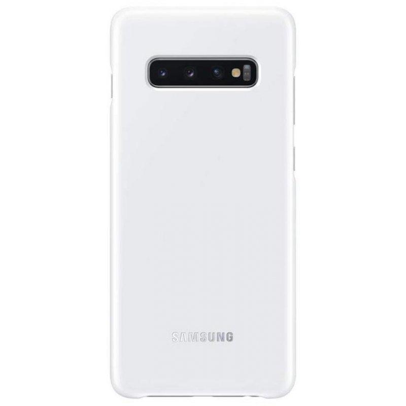 Official Samsung Led Cover Σκληρή Θήκη Samsung Galaxy S10 - White (EF-KG973CWEGWW)