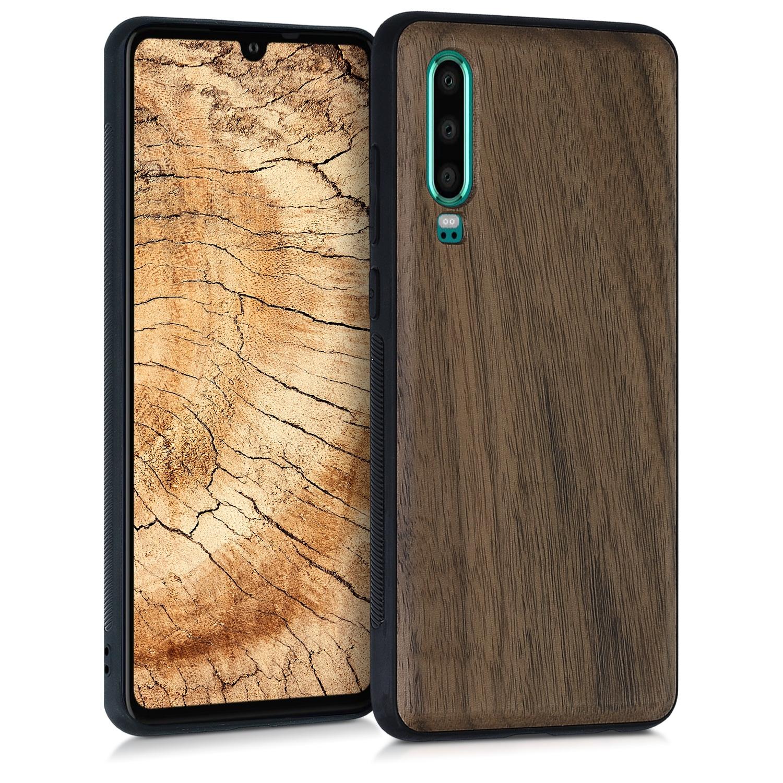 KW Σκληρή Ξύλινη Θήκη Huawei P30 - Dark Brown (47415.18)