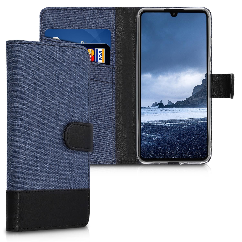 KW Θήκη-Πορτοφόλι Huawei P30 Lite - Dark Blue / Black Canvas (47502.02)
