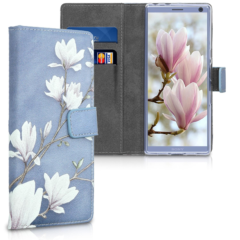 KW Θήκη-Πορτοφόλι Sony Xperia 10 - Taupe / White / Blue Grey (47997.01)