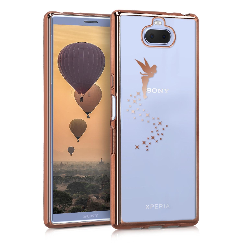 KW Θήκη Σιλικόνης Sony Xperia 10 - Copper / Transparent (47998.01)