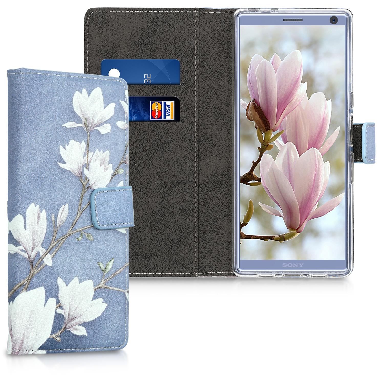 KW Θήκη-Πορτοφόλι Sony Xperia 10 Plus - Taupe / White / Blue Grey (48002.01)