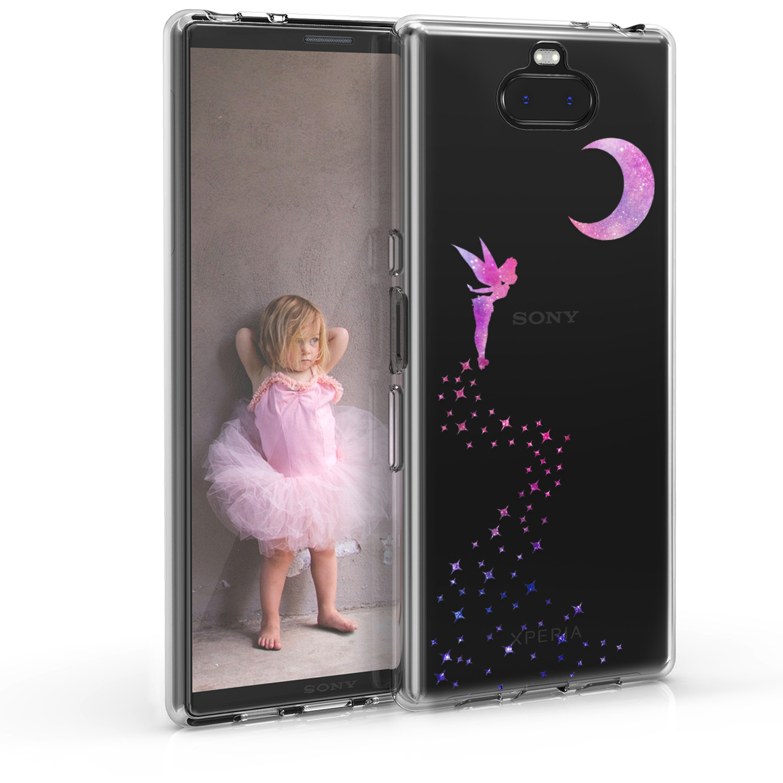 KW Θήκη Σιλικόνης Sony Xperia 10 Plus - Dark Pink / Violet / Transparent (48003.02)