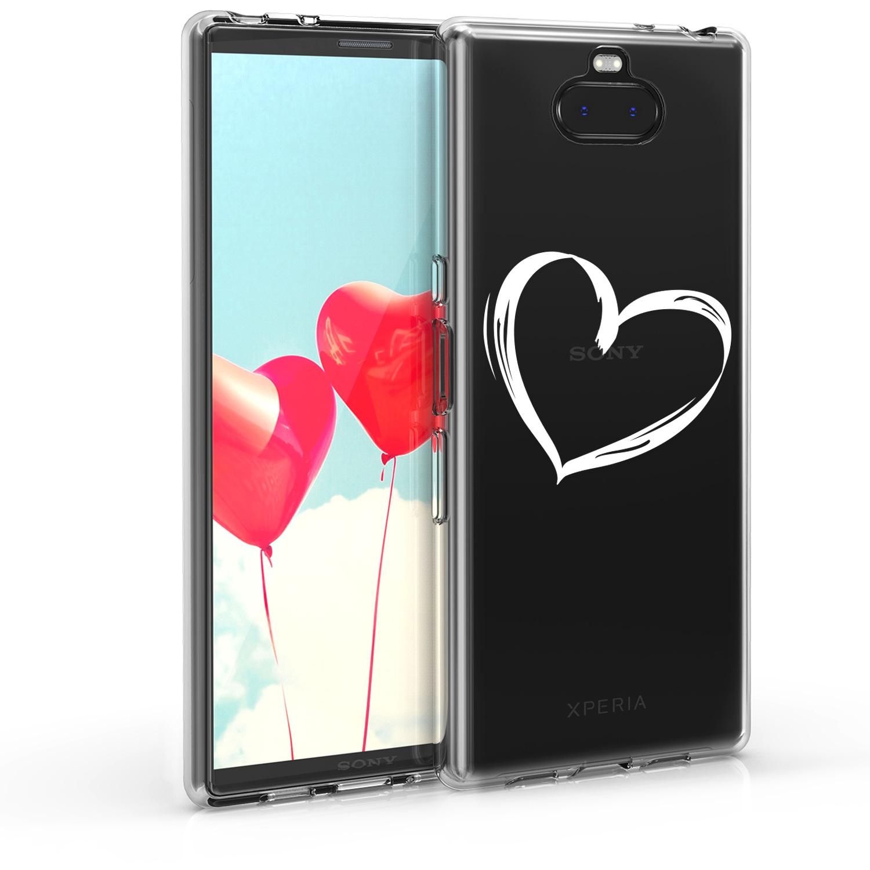 KW Θήκη TPU Σιλικόνη- Sony Xperia 10 Plus - White / Transparent (48003.03)