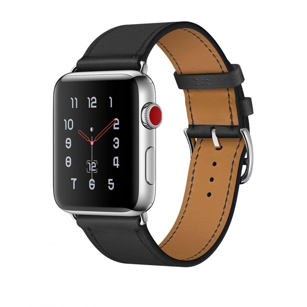 Ανταλλακτικό Λουράκι Herms Apple Watch 5/4/3/2/1 (44/42mm) - OEM  - Black (12404)