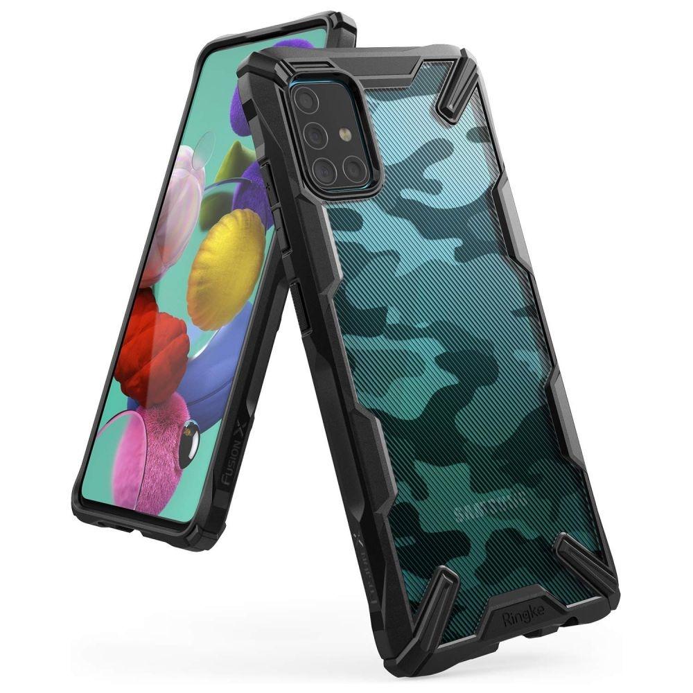 Ringke Fusion X Θήκη Σιλικόνης Samsung Galaxy A71 - Camo Black (61624)