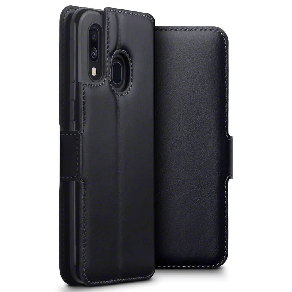 Terrapin Low Profile  Δερμάτινη Θήκη - Πορτοφόλι Samsung Galaxy A40 - Black (117-002a-144)