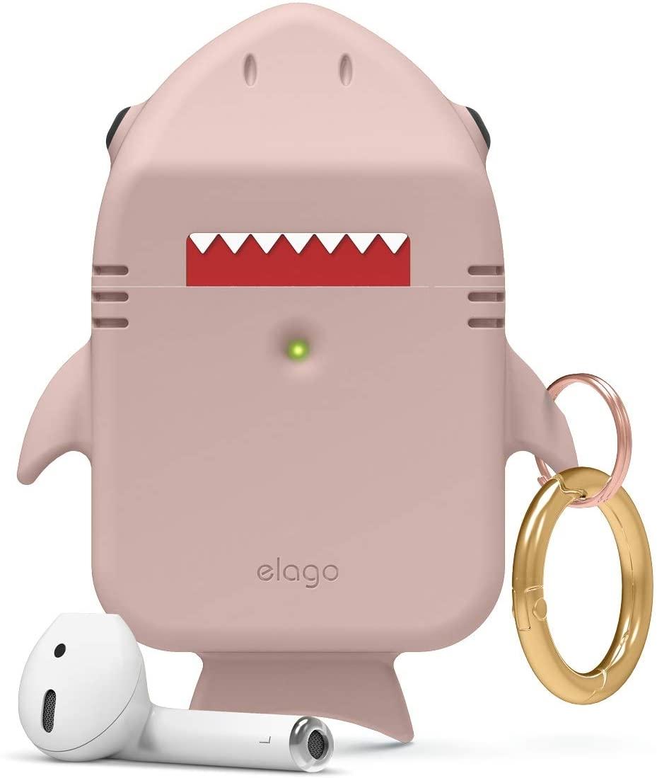 Elago AirPods Shark Case - Θήκη Σιλικόνης για AirPods 2nd Gen / 1st Gen - Lovely Pink (EAP-SHARK-PK)