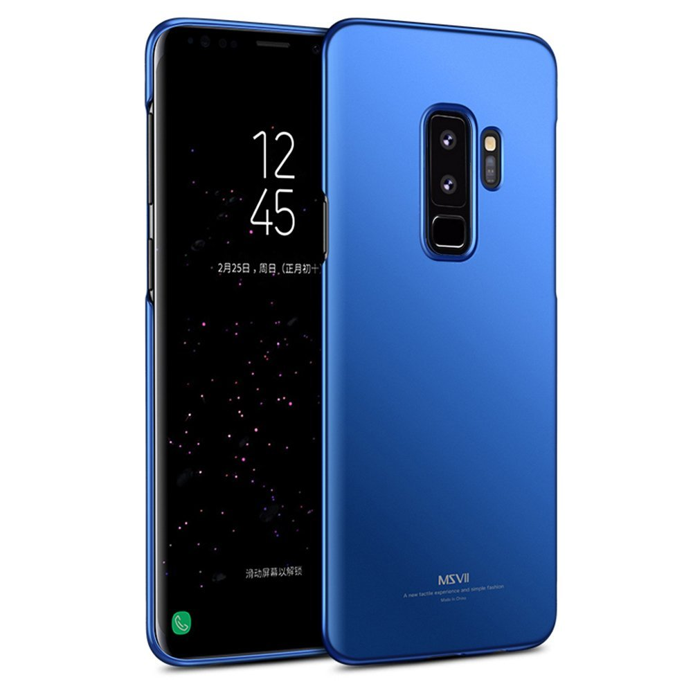 MSVII Ultra Slim Σκληρή Θήκη PC  Samsung Galaxy S9 Plus - Blue (MS7128BLU)