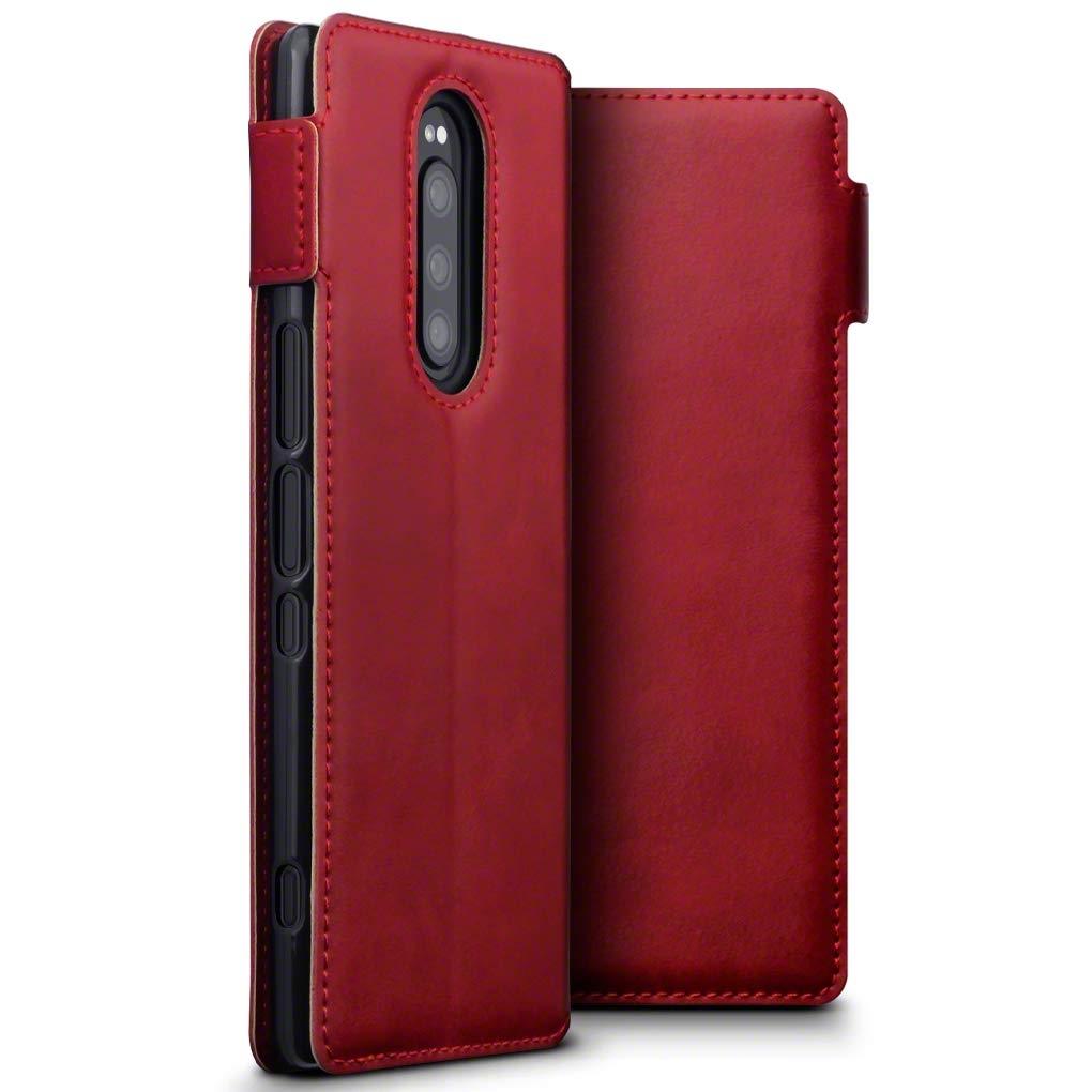 Terrapin Low Profile Δερμάτινη Θήκη - Πορτοφόλι Sony Xperia 1 - Red (117-005-659)