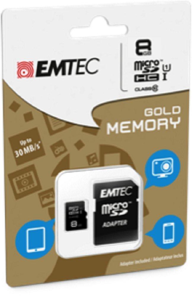 Emtec Κάρτα Μνήμης microSD 8GB Class 10 85MB/S (ECMSDM8GHC10GP)