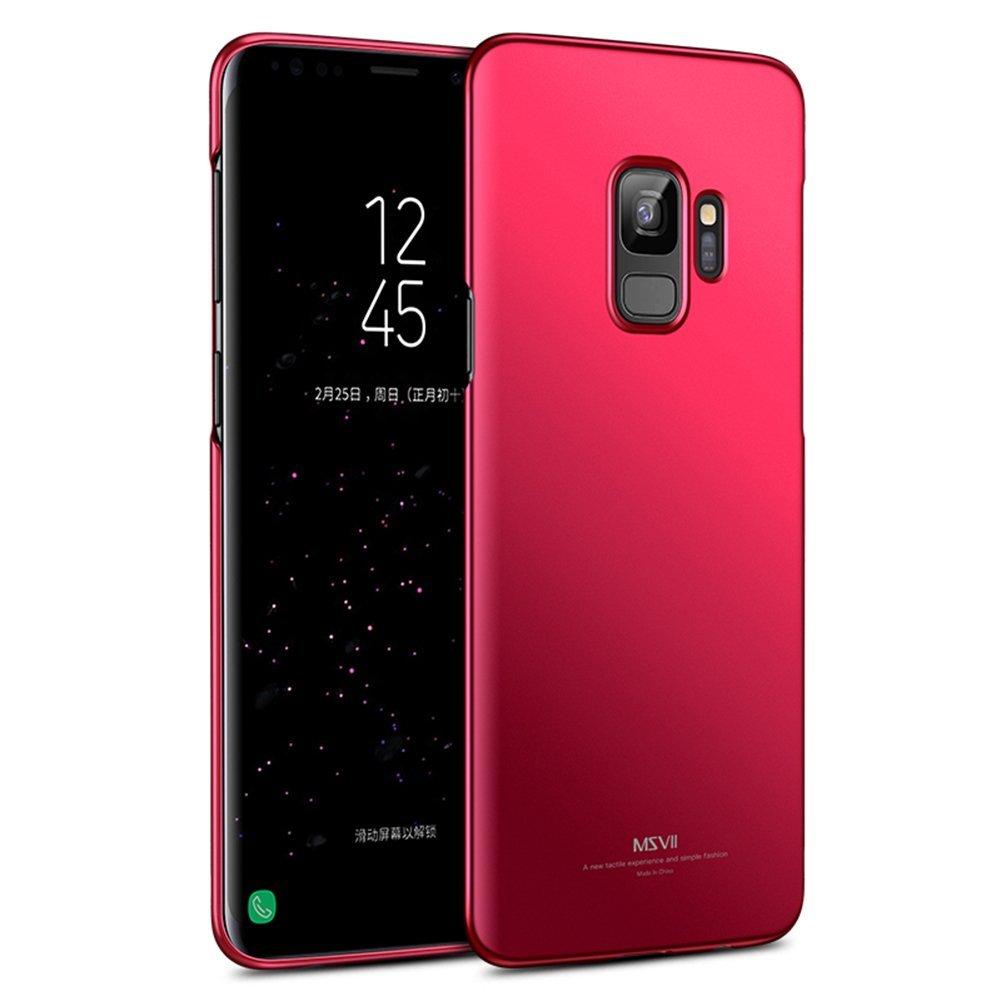 MSVII  Ultra Slim Σκληρή Θήκη PC  Samsung Galaxy S9 - Red (MS7126RED)