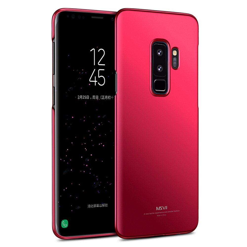 MSVII Ultra Slim Σκληρή Θήκη PC  Samsung Galaxy S9 Plus - Red (MS7130RED)