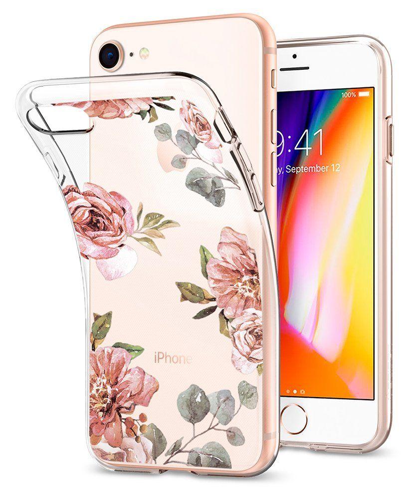 Spigen Θήκη Liquid Crystal iPhone 8 / 7 - Aquarelle Rose (054CS22619)