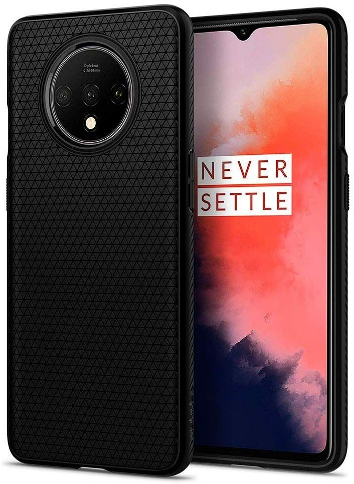 Spigen Θήκη Liquid Air OnePlus 7T - Black Matte (ACS00317)
