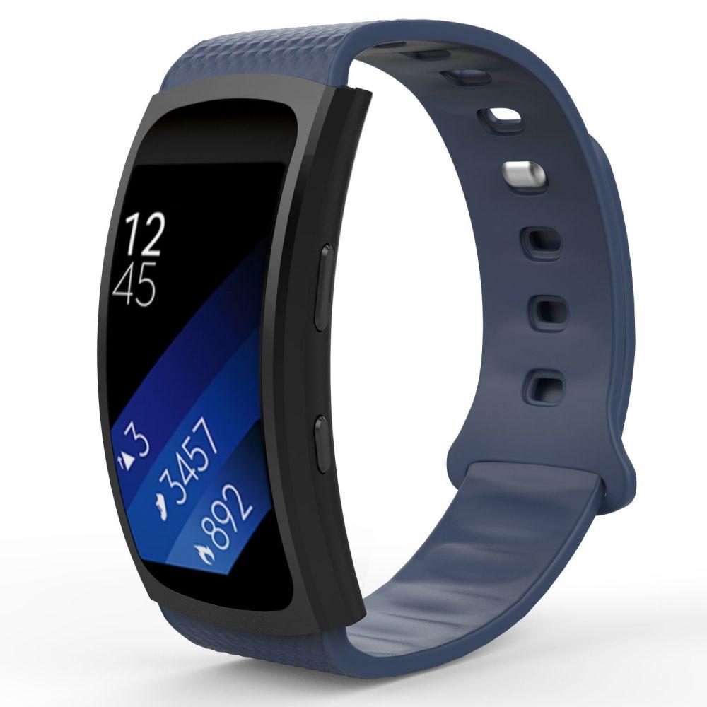 Ανταλλακτικό Λουράκι Σιλικόνης Samsung Gear Fit/Fit 2 - Navy Blue - OEM (12837)