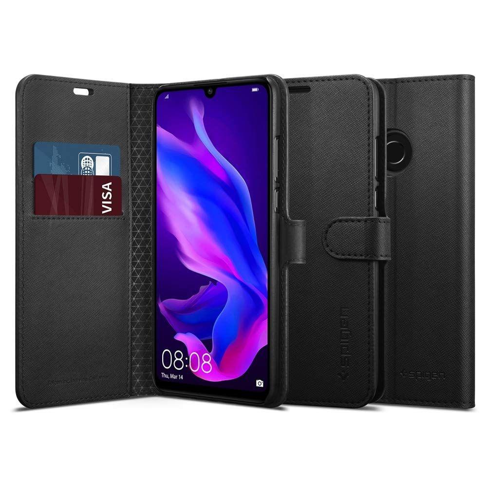 Spigen Wallet S - Θήκη-Πορτοφόλι Huawei P30 Lite / Nova 4e - Saffiano Black (L39CS25744)