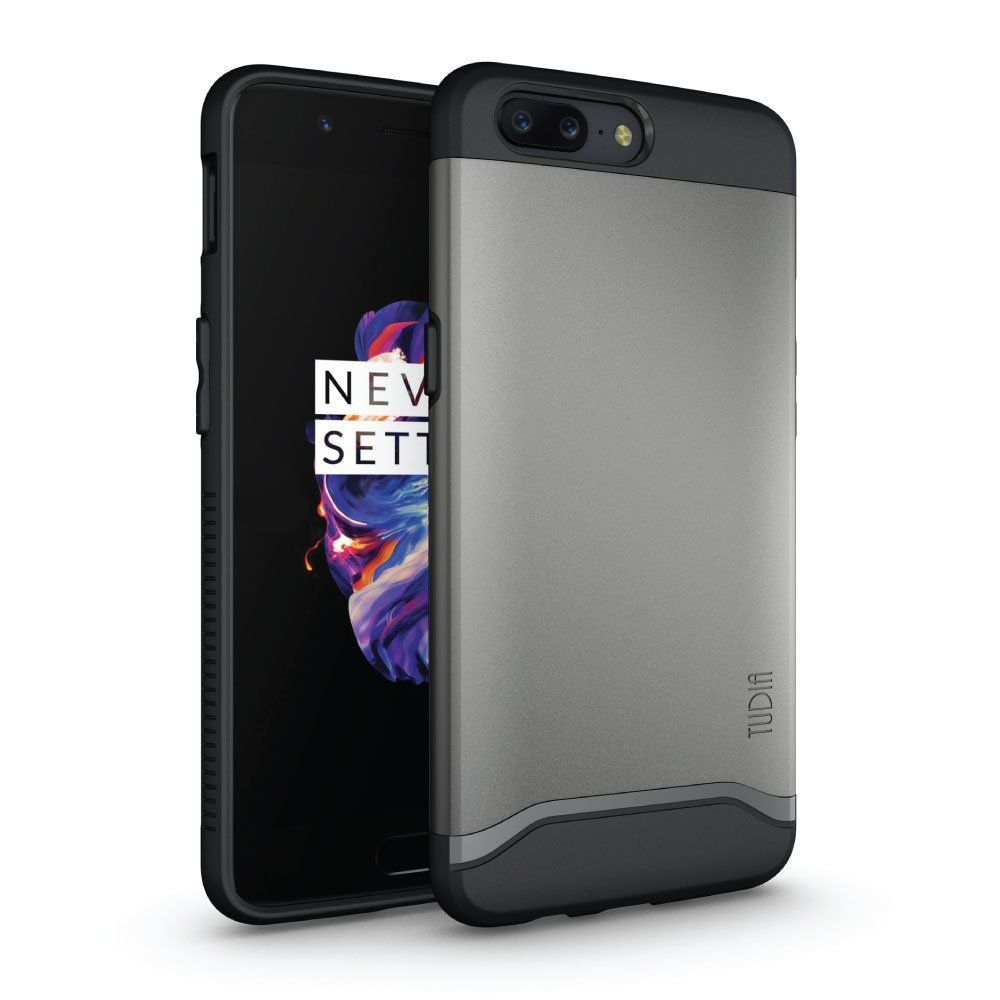 Tudia Merge Θήκη OnePlus 5 - Mettalic Slate (TD-TPU3874)