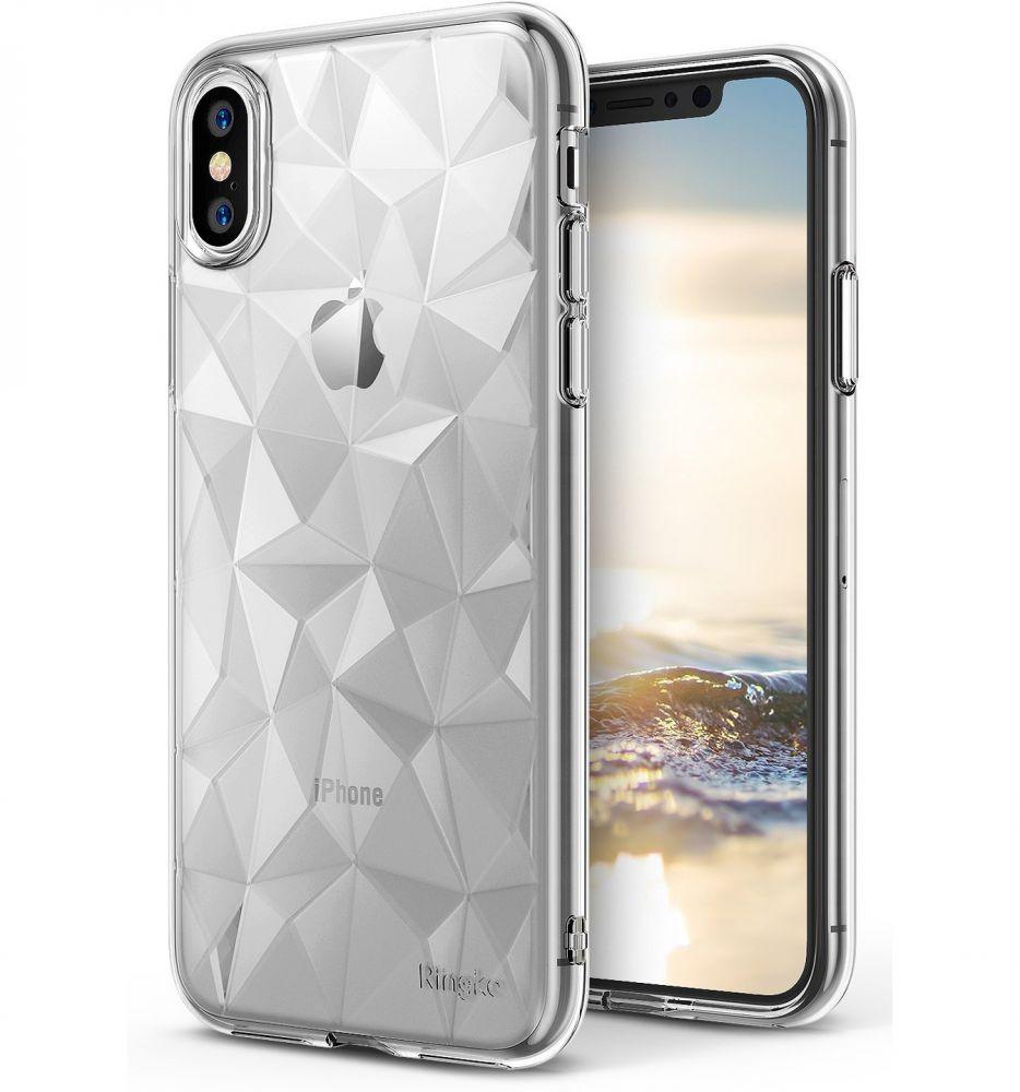 Ringke Air Prism Θήκη Σιλικόνης iPhone X / XS με Ανάγλυφο Σχέδιο - Clear (11730)