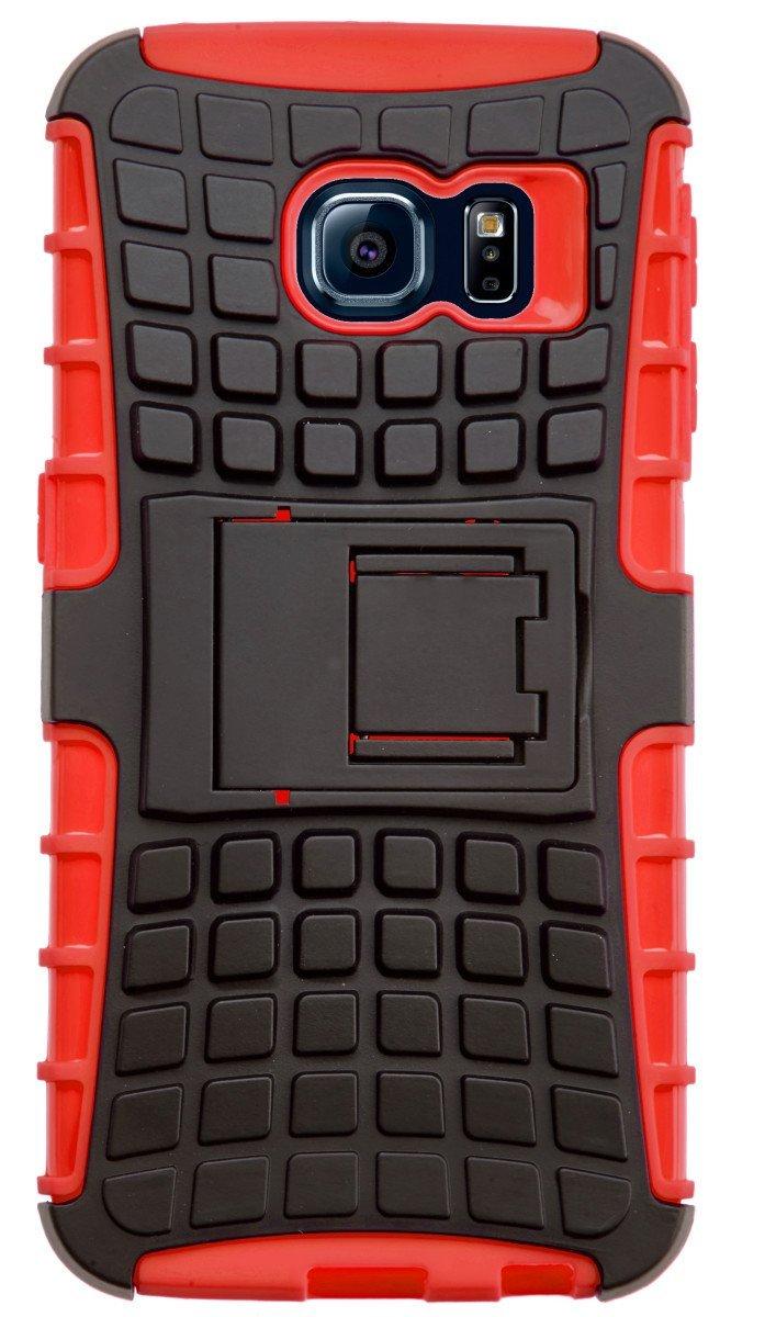 Ανθεκτική Θήκη Samsung Galaxy S6 Edge - Κόκκινο - OEM (10730)
